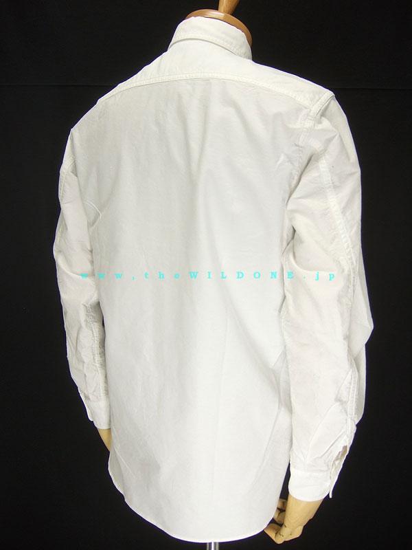 アジャスタブルコスチューム 【AS-001 ワークスタイル ボタンダウンシャツ】 ホワイト オックスフォード