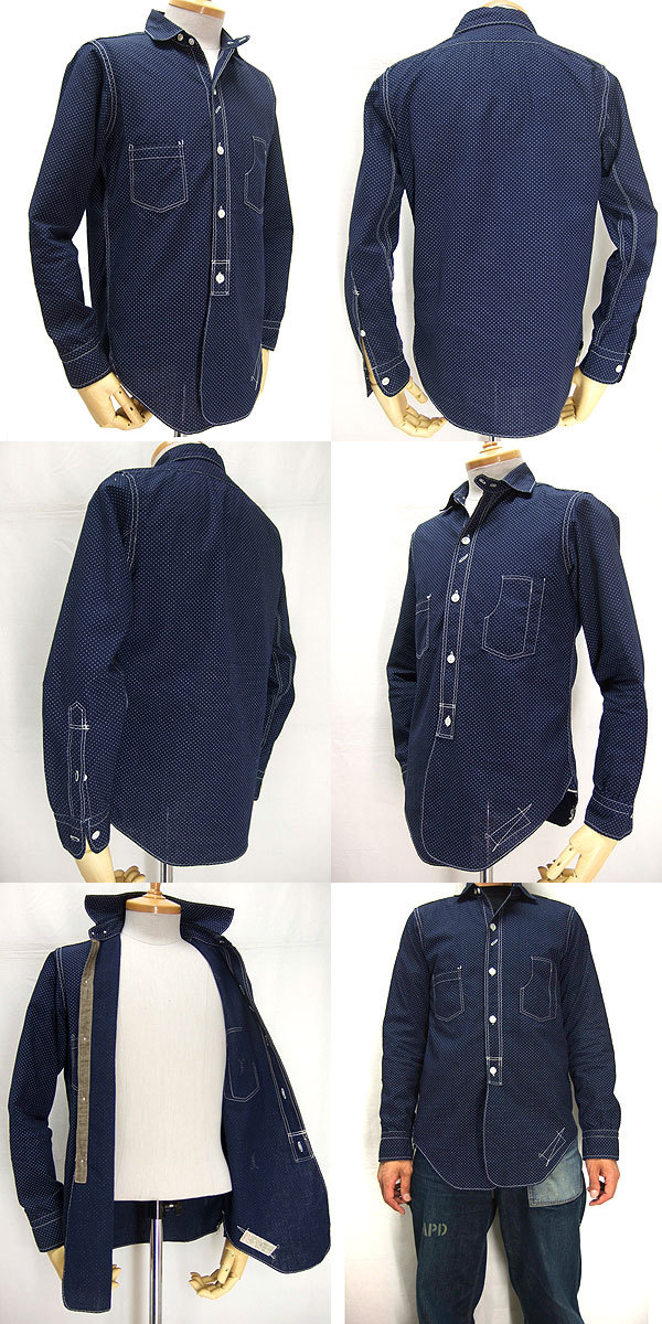 UNION SPECIAL OVERALLS  1913 Conductor Shirts 「POLKA DOT WABASH」(コンダクターシャツ ポルカドットウォバッシュ)