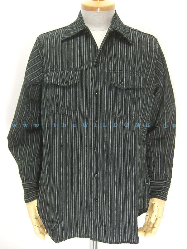 BLACK SIGN 【(bsfl-11105B) Sword Stripe Riding Shirt <SWORD STRIPE(ソード・ストライプ)>】