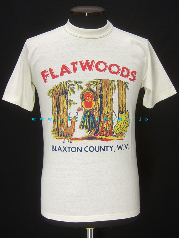 Freewheelers フリーホイーラーズ ライトウェイト半袖Tシャツ【BLAXTON / FLATWOODS MONSTER】オフホワイト
