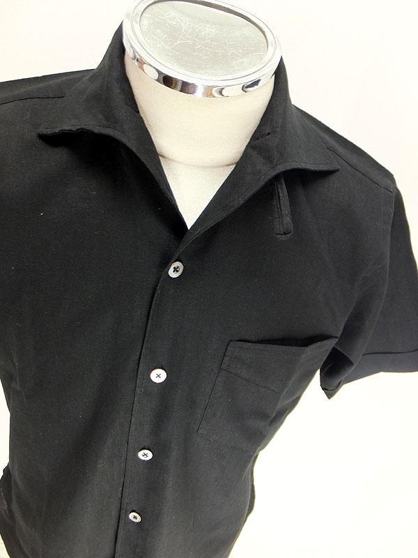 WARP AND WOOF 【ITALIAN COLLAR SHIRTS 半袖イタリアンカラーシャツ<ブラック>】