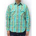ジェラード 【JPSH-1311 ネルシャツ ショート丈 <ミント>】 JELADO 【JPSH-1307 FLANNEL SHIRTS SHORT LENGTH <MINT> washed】