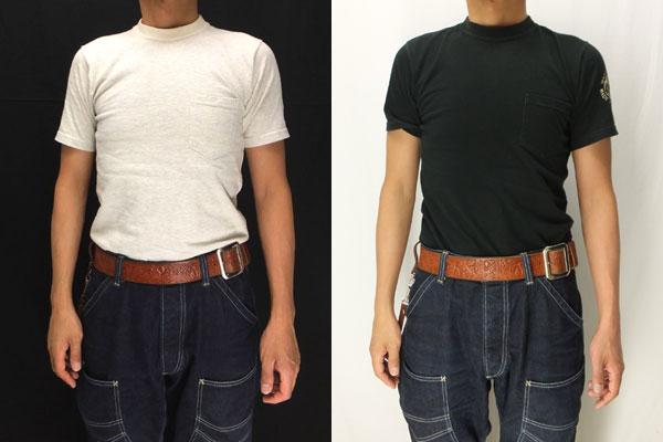 WARP AND WOOF 半袖オリジナルボディtシャツ 試着画像 サイズ比較
