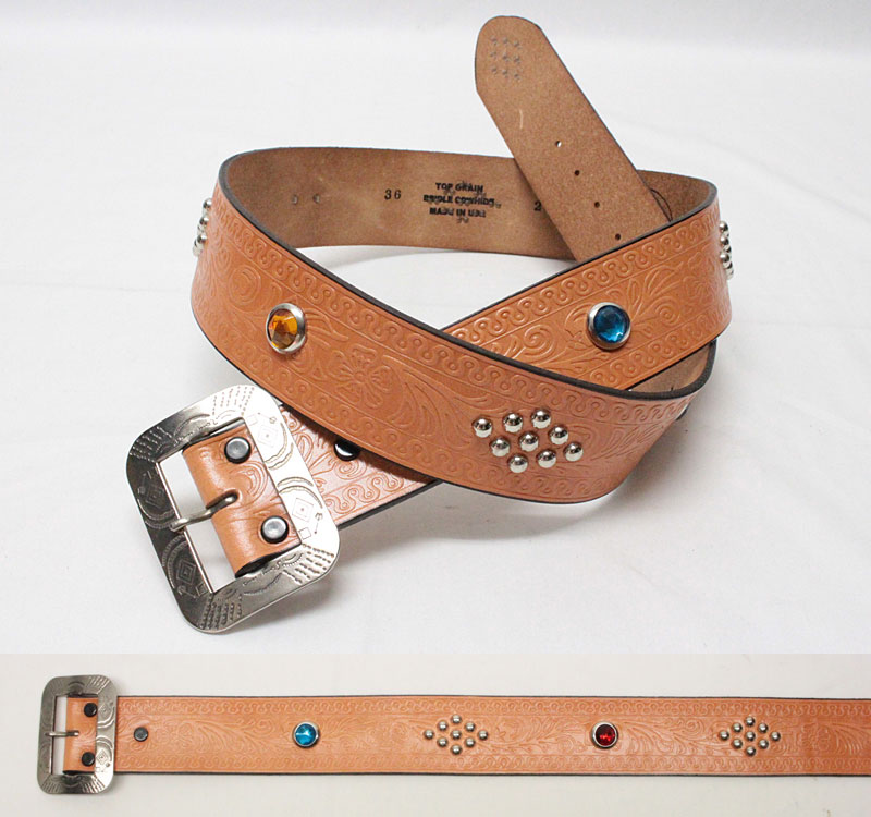"""ACE WESTERN BELTS 【Style No. 160 EARLY 1932 """"Style 1930's STUDDED AND JEWELED"""" <RUSSET>】 エースウエスタンベルト 【No.160 EARLY 1932 <ラセット>】"""