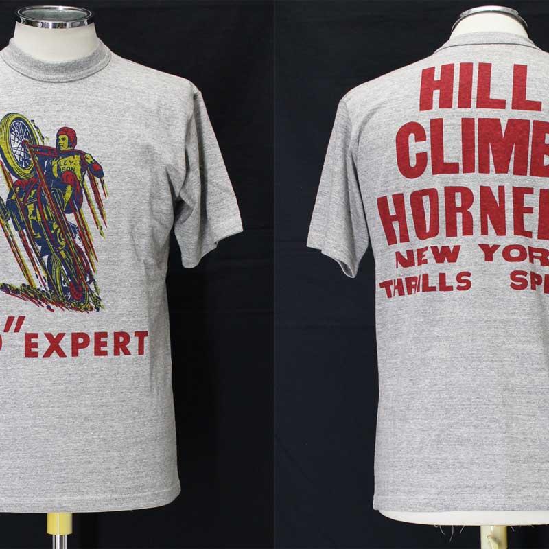 フリーホイーラーズ ライトウェイトプリントTシャツ 【1935 ヒルクライムレース <ミックスグレー>】 FREEWHEELERS Light Weight T-shirts 【1935 HILL CLIMB RACE <MIX GRAY>】