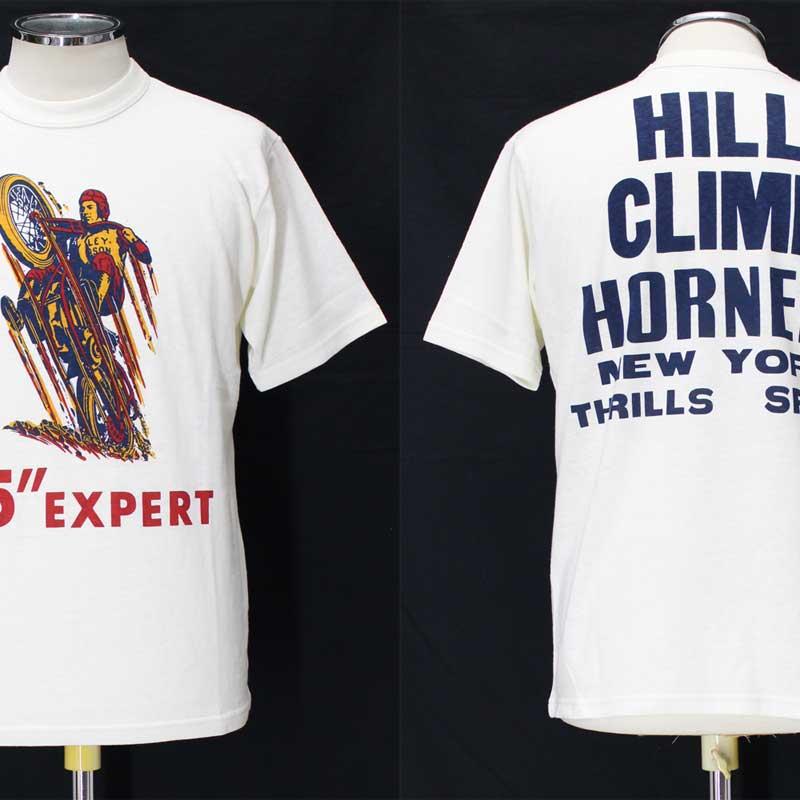 フリーホイーラーズ ライトウェイトプリントTシャツ 【1935 ヒルクライムレース <オフホワイト>】 FREEWHEELERS Light Weight T-shirts 【1935 HILL CLIMB RACE <OFF-WHITE>】
