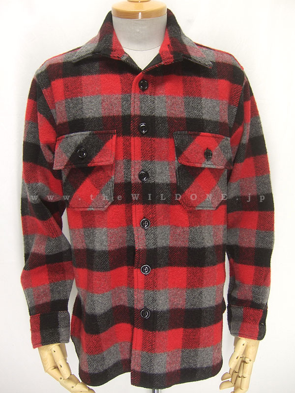 Cushman クッシュマン 25345 【ランバーチェック ワークシャツ <RED x GRAY>】
