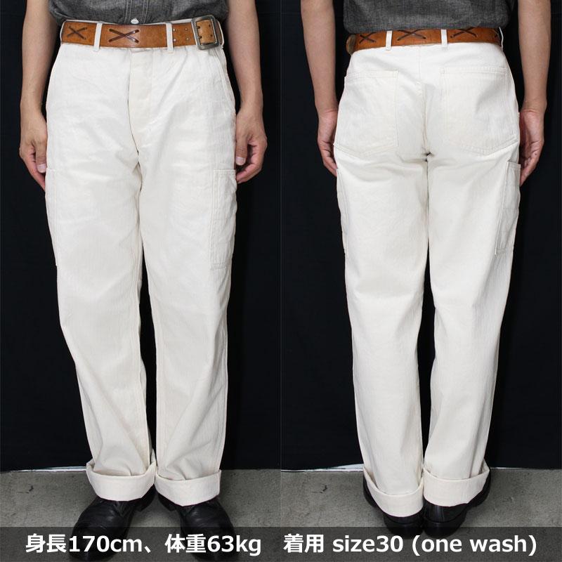 マットソンズ 【#62704 PW41タイプ ヘリンボーンワークパンツ <オフホワイト>】 MATTSON'S 【#62704 PW41 TYPE HERRINGBONE WORK PANTS <OFF WHITE>】