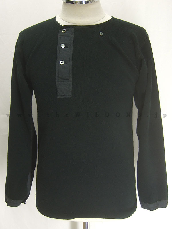 BLACK SIGN 【bsfn-11301B Logger's Underwear ロガーズアンダーウェア】両面起毛フライス アンダーウェア <MID NIGHT BLACK>