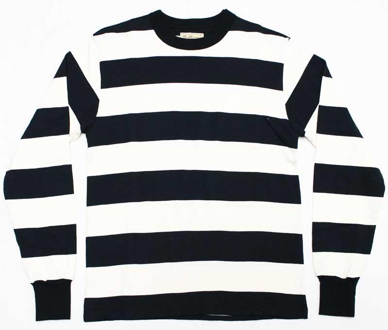 マットソンズ 【#66309 ボーダー ロングスリーブTシャツ <ブラック x ホワイト>】 MATTSONS' 【#66309 BORDER L/S T-SHIRTS <BLACK x WHITE>】