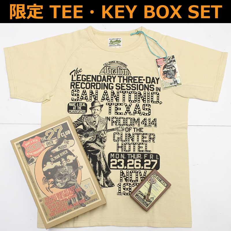"""ボーズグラッドラグス 【サンアントニオセッション1936 ボックスセット】 'BO'S GLAD RAGS 【BS18-03ST TEE & KEY SPECIAL BOX SET """"SAN ANTONIO SESSIONS 1936"""" <STRAW>】"""
