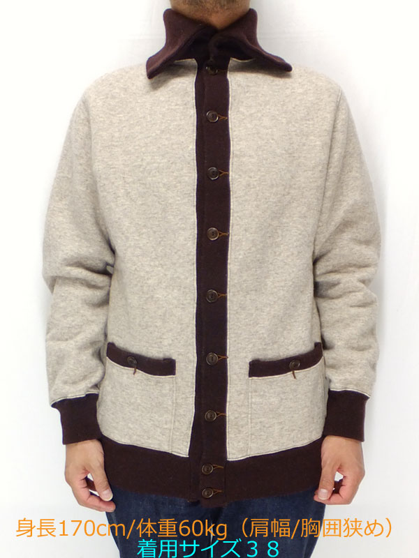 ブラックサイン 【bsfc-13903B バイロン・カラー・ウール・スウェット・コート <オートミール>】 BLACK SIGN 【Byron Collar WOOL Sweat Coat (bsfc-13903B) OATMEAL】