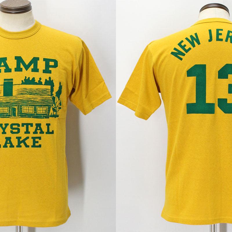 フリーホイーラーズ ライトウェイトプリントTシャツ 【キャンプクリスタルレイク <ゴールドダスト>】 FREEWHEELERS 2025017 Light Weight T-shirts 【CAMP CRYSTAL LAKE <GOLD DUST>】