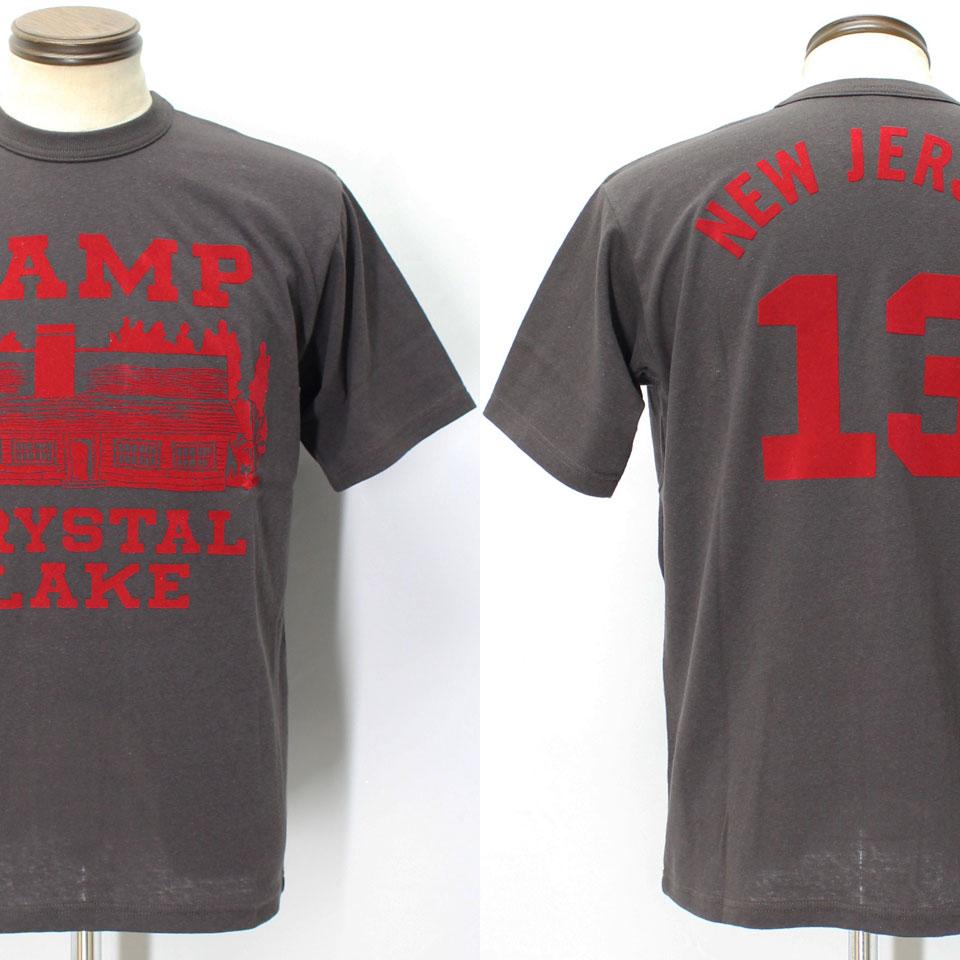 フリーホイーラーズ ライトウェイトプリントTシャツ 【キャンプクリスタルレイク <ジェットブラック>】 FREEWHEELERS 2025016 Light Weight T-shirts 【CAMP CRYSTAL LAKE <JET BLACK>】