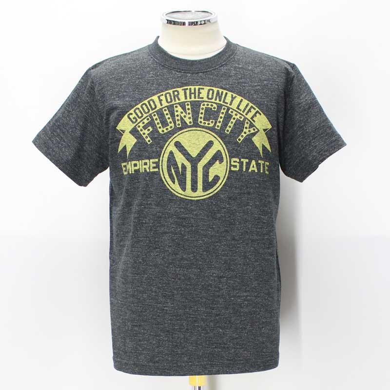"FUN CITY ファンシティ Company Logo Promotion Tee 【""FUN CITY"" Empire State N.Y.C.  1953 <HEATHER BLACK> 杢ブラック】"