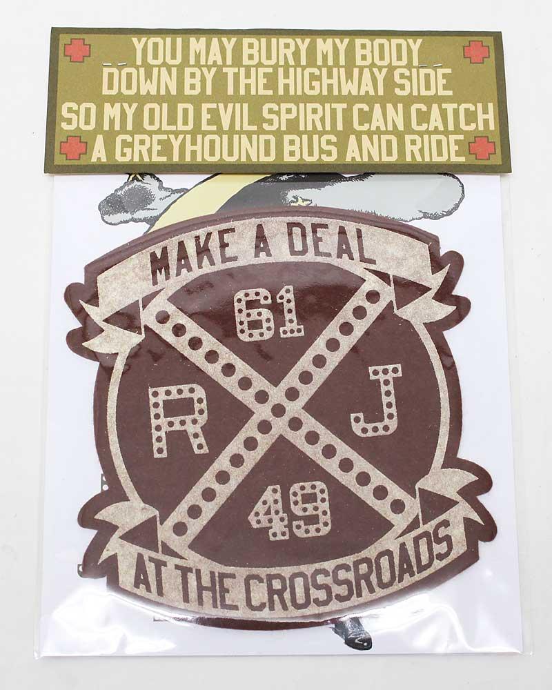 """ボーズグラッドラグス 【ハンドメイドフェルトワッペン """"クロスロード"""" <ブラウン>】 'BO'S GLAD RAGS 【HANDMADE FELT PATCH """"Make A Deal At The Crossroads""""<BROWN>】"""