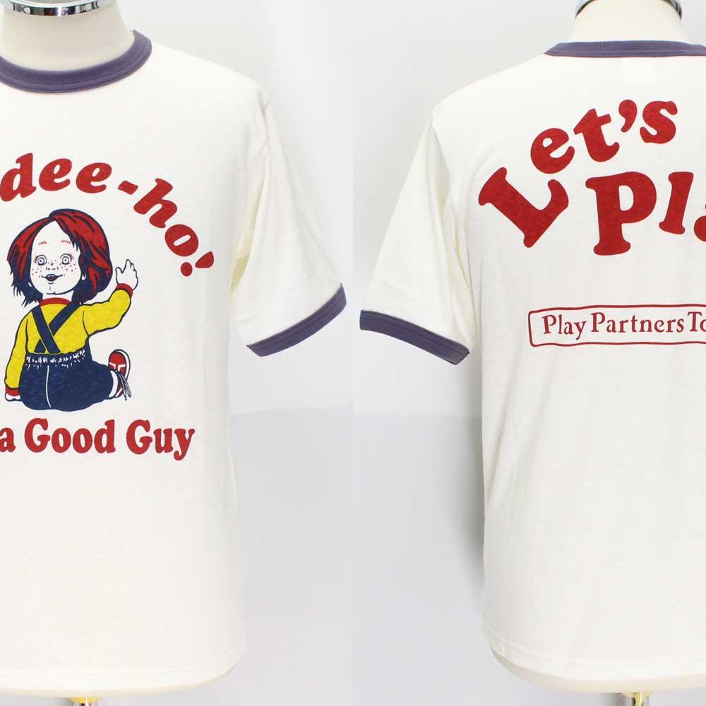 フリーホイーラーズ ライトウェイトTシャツ 【グッドガイ <オフホワイト x ネイビー>】 FREEWHEELERS 2025020 Light Weight T-shirts 【GOOD GUY <OFF-WHITE x WASTED NAVY>】