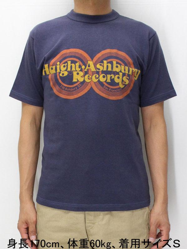 フリーホイーラーズ ライトウェイト 半袖Tシャツ 【ヘイトアシュベリーレコーズ <フェイドネイビー>】 Freewheelers Light Weight T-shirts 【HAIGHT ASHBURY RECORDS <FADE NAVY>】