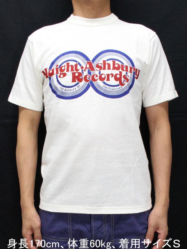 フリーホイーラーズ ライトウェイト 半袖Tシャツ 【ヘイトアシュベリーレコーズ <オフホワイト>】 Freewheelers Light Weight T-shirts 【HAIGHT ASHBURY RECORDS <OFF-WHITE>】