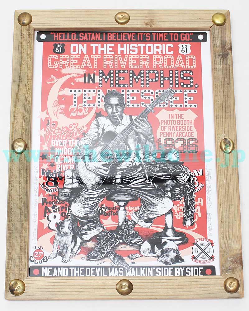 ボーズグラッドラグス 【オリジナルアートワーク <ランブリンボブインメンフィステネシー1936>】 'BO'S GLAD RAGS 【ORIGINAL ARTWORK with FLAM <Rumblin' Bob in Memphis TN 1936>】