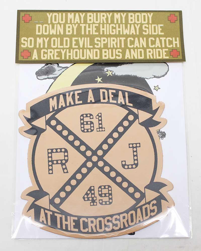 ボーズグラッドラグス 【ハンドメイドレザーワッペン <メイクアディールアットザクロスロード>】 'BO'S GLAD RAGS 【HANDMADE LEATHER PATCH <Make A Deal At The Crossroads>】