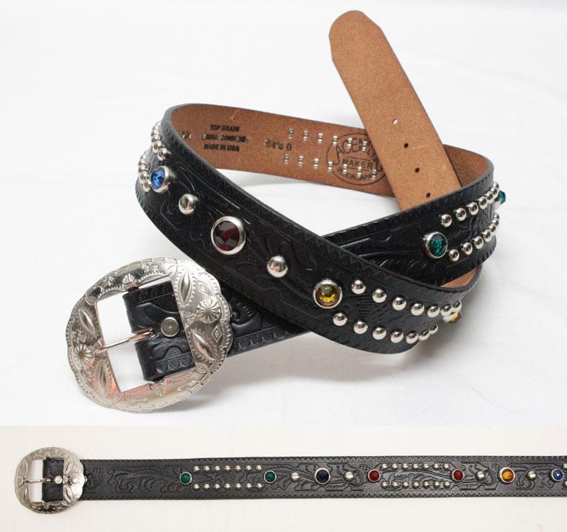 """ACE WESTERN BELTS 【Style No. M620 """"M"""" Products STYLE 1950's 38mm <BLACK>】 エースウエスタンベルト 【No.M620 """"M""""プロダクツ 1950'sスタイル 38mm <ブラック>】"""