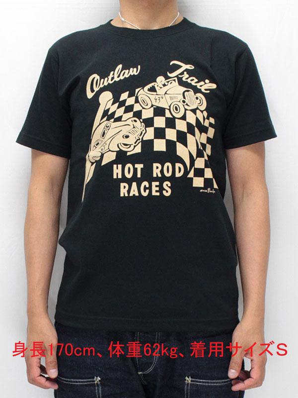 マサスカルプ 半袖 Tシャツ 【アウトロー トレイル <ブラック x ベージュプリント>】 MASA SCULP S/S T-shirts 【OUTLAW TRAIL <BLACK x BEIGE print>】