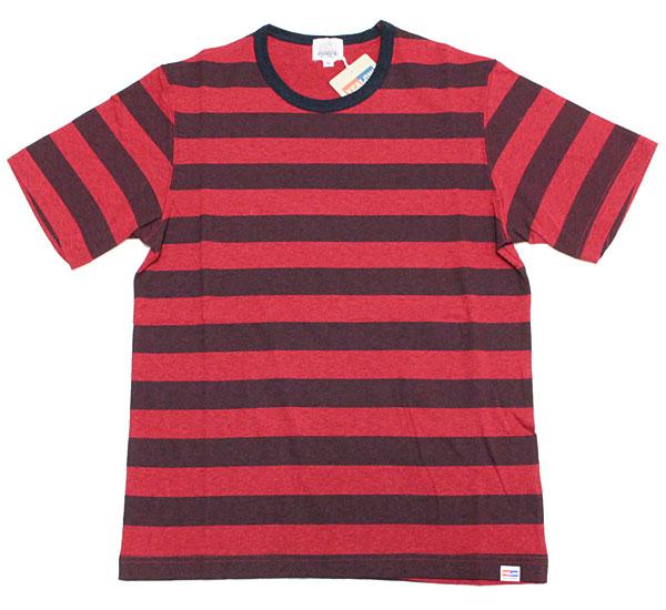 イエロー 【36216 プリントボーダーTシャツ <レッド>】 YEALOW 【36216 PRINT BORDER TEE <RED>】