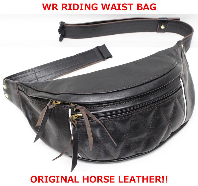 ウエストライド 【ウエストライド ライディングウエストバッグ <ブラックホースレザー (馬革 茶芯の黒)>】 WEST RIDE 【WR RIDING WAIST BAG <BLACK HORSE LEATHER>】