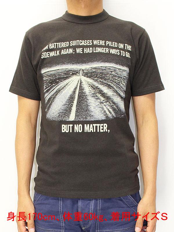 """フリーホイーラーズ ライトウェイト 半袖Tシャツ 【ザ・ロード・イズ・ライフ <ジェットブラック>】 Freewheelers T-shirts """"BEAT ON THE ROAD"""" 【THE ROAD IS LIFE <JET BLACK>】"""