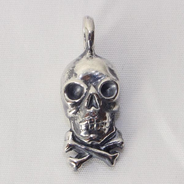 ワープ&ウーフ 【スカル クロスボーン ペンダントトップ <シルバー925  (石無し)>】 WARP AND WOOF 【Skull X Bone Pendant Top <SILVER 925>】