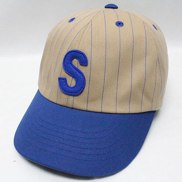 スピアーズ : ベースボールタイプ スポーツキャップ 【SS-001 <ベージュ x ブルー>】 SPEIER'S : BASEBALL TYPE SPORTS CAP 【SS-001 <BEIGE x BLUE>】