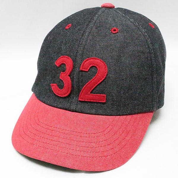"""スピアーズ : ベースボールタイプ スポーツキャップ 【SS-002 """"32"""" <ブラック x レッド>】 SPEIER'S : BASEBALL TYPE SPORTS CAP 【SS-002 """"32"""" <BLACK x RED>】"""