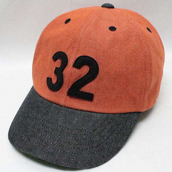 """スピアーズ : ベースボールタイプ スポーツキャップ 【SS-002 """"32"""" <オレンジ x ブラック>】 SPEIER'S : BASEBALL TYPE SPORTS CAP 【SS-002 """"32"""" <ORANGE x BLACK>】"""