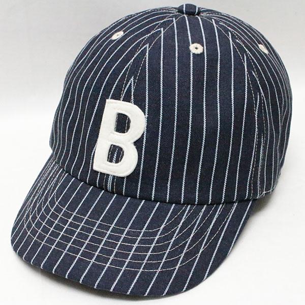 """スピアーズ : ベースボールタイプ スポーツキャップ 【SS-003 """"B"""" <インディゴストライプ>】 SPEIER'S : BASEBALL TYPE SPORTS CAP 【SS-002 """"B"""" <INDIGO STRIPE>】"""