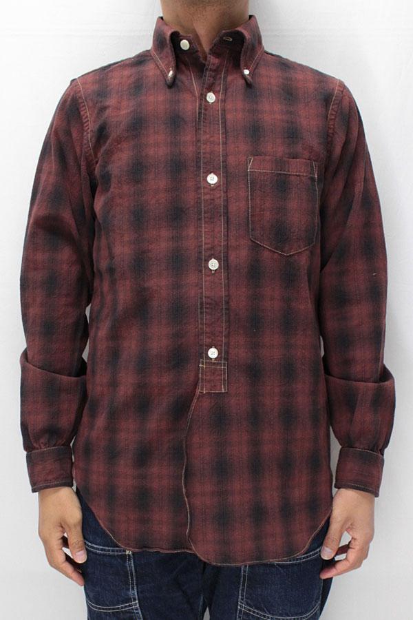 フリーホイーラーズ ボタンダウンカラー長袖シャツ 【スタンフォード <ボルドーオンブレー ドビーチェック>】 FREEWHEELERS Button Down Collar shirts 【STANFORD <BORDEAUX OMBRE>】