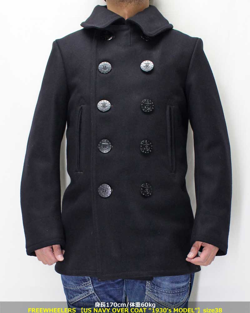 フリーホイーラーズ 【US NAVY オーバーコート  1930'sモデル】 NAVAL CLOTHING FACTORY by FREEWHEELERS 【U.S. NAVY OVERCOAT 1930's MODEL】 2018