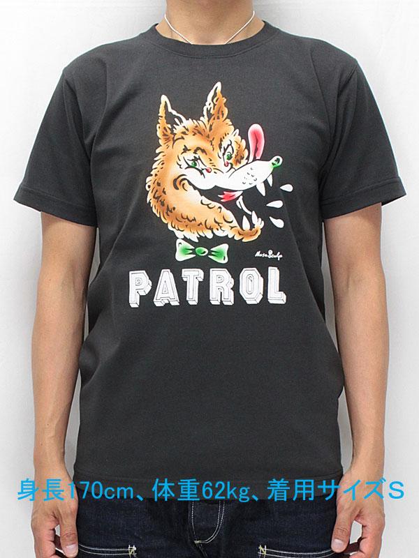 マサスカルプ 半袖 Tシャツ 【ウルフ パトロール <ディープ ブラック (スミ黒) x フロッキー+エアブラシ>】 MASA SCULP S/S T-shirts 【WOLF PATROL <DEEP BLACK x Airbrush Flocky>】